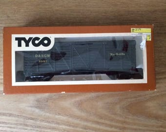 Vintage Tyco D&RGW Rio Grande Cattle Stock Car, HO Scale Vintage Train Car, Like New in Original Box