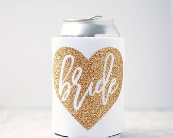 Bride Glitter Can Cooler Bachelorette Party Can Coolers, The Bride, Bachelorette Gift, Bridal Party Gifts, Personalized Bachelorette Gift