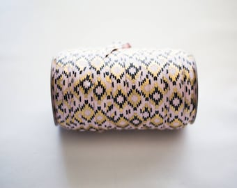 Aztec Gold/Pink 5/8'' Fold-Over Elastic Roll