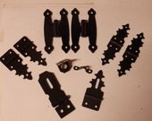 Humidor or Jewelry Box Hinges OR Hasps Black