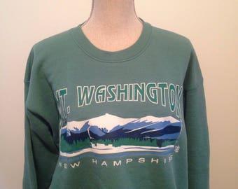Vintage White Mountains New Hampshire mount washington early 90s Sweatshirt