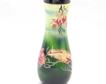 Hummingbirds Peonies and Bleeding Hearts Vietnamese Vase