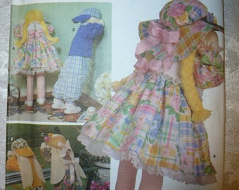 Simplicity Crafts Pattern 8268 for Doll, Doll Bunny and Clothes