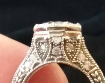Vintage Deco Style Engagement Ring