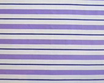 Vintage Sheet Fabric Fat Quarter - Purple Stripe - FQ