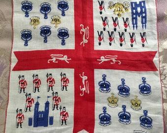 Vintage Tammis Keefe Hanky Handkerchief Royalty Theme