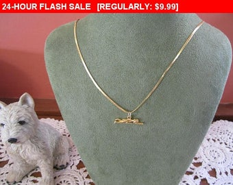 swimmer pendant chain necklace