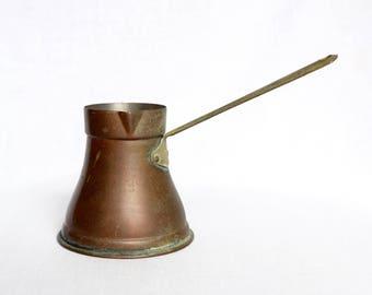 Vintage Turkish coffee pot…copper pourer…butter warmer…ibrik.