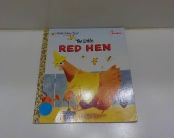 Vintage 1982 Renewed Copyright, The Little Red Hen (29) A Little Golden Book, Chick-Fil-A