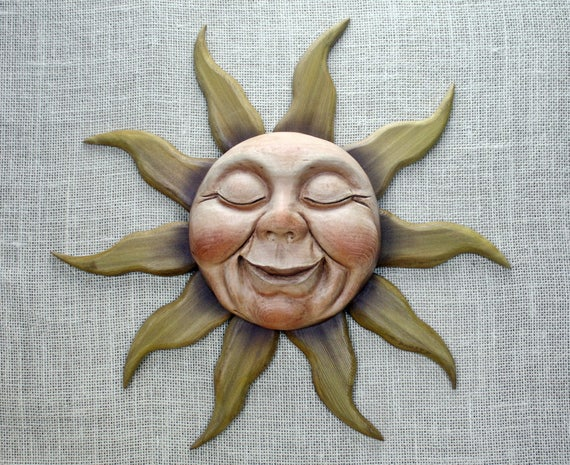 Sun Woodcarving Hand Carved by Mike Berlin
