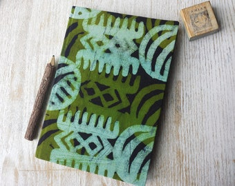 2018 A5 daily Diary Planner Calendar Agenda A5 day-a-page African Print Vibrant Unique Original Hardback - traditional African batik