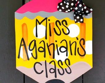 Teacher Door Hanger | Teacher Appreciation Gift | Personalized Teacher Gift | Classroom Decor | Classroom Decor | Classroom Sign