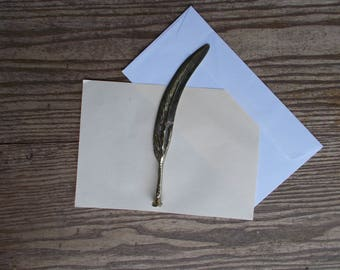 Vintage Letter Opener,Brass Feather Letter Opener,Claw/Talon