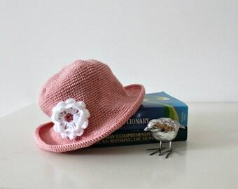 Girl's hat Child Cotton hat Beanie Crochet cap Pink hat Fedora hat Beach hat Holiday Boho Photography prop Gift Hypoallergenic hat Ireland