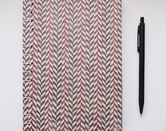 Chevron Striped Earthtone Journal with Lined Paper