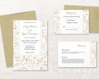 Pretty Little Dots Wedding Invitation Suite by Ashley Anne Designs
