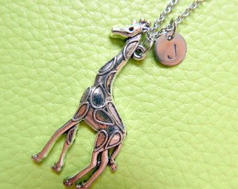 Girafe Initial Necklace Monogram Stainless steel chain