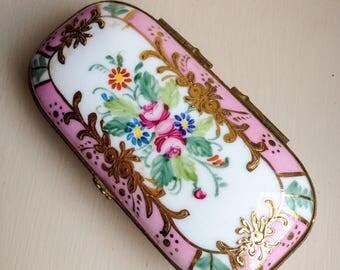 Limoges Handpainted Trinket Box