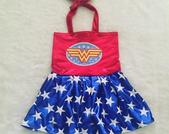 Wonder Woman, super hero, Halloween, Costume, Boutique Style,size NB, 3, 6, 9 18, 12, 24 months, 2T, 3T,4T, 5T