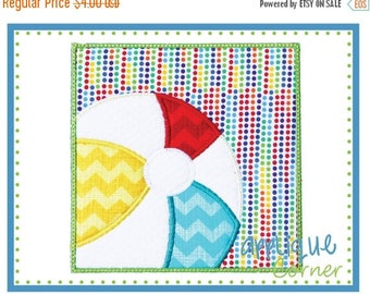 50% Off Beach Ball Patch for Summer applique digital design for embroidery machine by Applique Corner