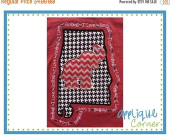 40% OFF INSTANT DOWNLOAD State of Alabama Elephant applique design in digital format for embroidery machine by Applique Corner