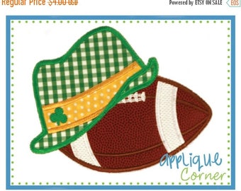 40% OFF Football with Irish Lucky Hat applique digital design for embroidery machine by Applique Corner