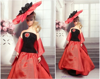 Aurore evening dress for barbie doll