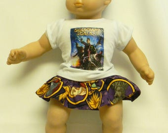 Guardians Of The Galaxy Theme Outfit  For 16 Inch Doll Like The Bitty Baby