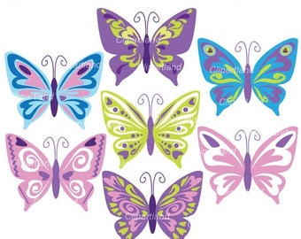 ON SALE INSTANT Download. Cb_5_butterfly. Butterfly clip art. Personal and commercial use.