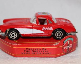 Vintage Coca Cola Matchbox 1958 Chevrolet Corvette Scale 1:64