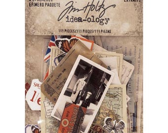 SNIPPETS - TiNY EPHEMERA  by Tim HOLTZ  - 111 pieces per pack   New and In Stock Now !!