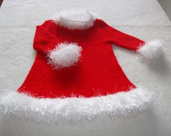 baby Christmas dress, birth / 1 month, (cassie collection)