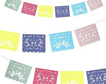 Fiesta Multicolor Party Garland- Meri Meri- Party Decor, Supplies Pastel, Pink, Toot Sweet, Wedding, Birthday, Papel Picado, Cinco de Mayo