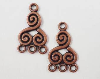 Copper Earring Wires 19mm Antique Copper Earring Hooks