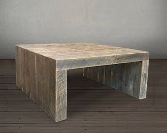 Reclaimed Coffee Table, Contemporary Modern Square Table