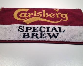 Vintage Carlberg Special Brew Bar Towel