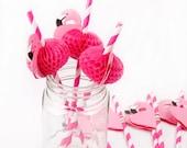 Flamingo Paper Drinking S...