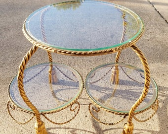 rope table end table   etsy