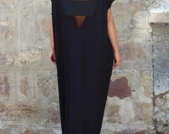 SALE ON 20 % OFF Caftan Black Dress, Oversized dress, Backless dress, Maxi dress, Black dress, Sleeveless dress , Open back dress