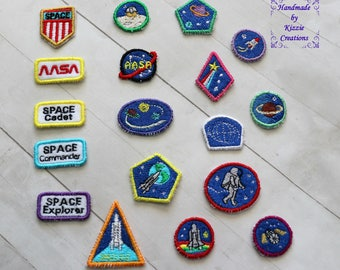 Space Badges for 18 inch doll, space suit badges, 18 in doll badges, 18 in doll clothes badges