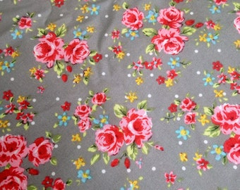 3 Yard Fabric vintage style 50s floral (very Cath Kidston) supplies for dressmaking