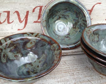 Pottery Bowl, Stoneware Bowl, prep bowl, soup bowl, cereal bowl