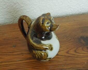 Vintage Ceramic Bear Creamer Pitcher