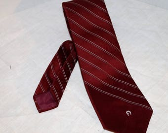 Vintage Etienne Aigner Men's Tie  - Striped - 100% Silk - Dry Clean