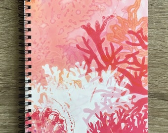 "Notebook with Original Art ""Coral, Coral"""