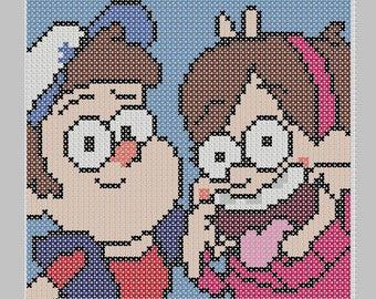 Gravity Falls Cross Stitch Pattern