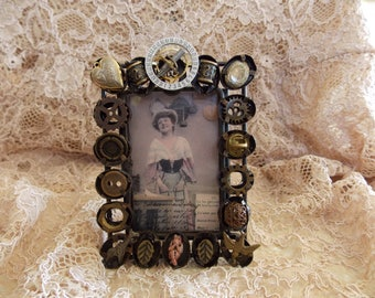 Handcrafted METAL ART/Picture Frame/Steampunk