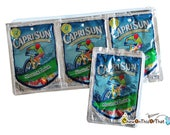 Recycled Capri Sun Juice Pouch Pencil Case & Change Purse, Wallet, Coin Pouch, Makeup Bag, Brush Holder, Upcycle Novelty Geeky Gag Gift Card