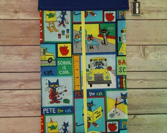 Classroom Door Safety Curtain--Pete the Cat