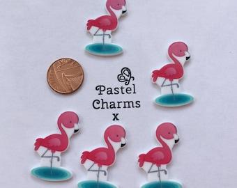Pack of 5 cute flamingo embellishments